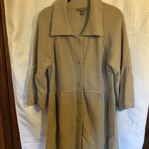 Long tab sweater dress/ cardigan Apt 9 xl